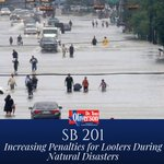 SB 201 increases the penalty for thieves and looters who exploit victims during times of distress. https://t.co/Ny8Qb8Q8tb #txlege