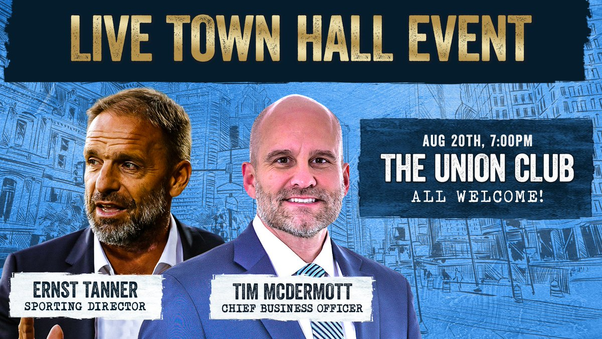 ⚡️TONIGHT⚡️ Ernst & Tim answering YOUR questions! You could win signed Union gear or one of 50 $10 food vouchers for any upcoming match 🍕🌭🍔 Well see you there! #DOOP