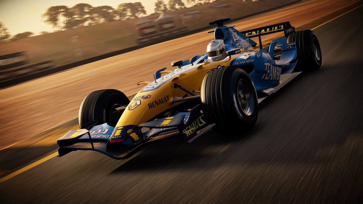 @alo_oficial Oh, and of course, its also playable in its original livery ⬇️ Whos excited to get behind the wheel of this monster in the brand new GRID? #LikeNoOther
