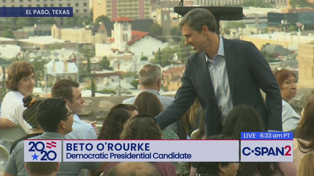 LIVE now on C-SPAN2: @BetoORourke resumes his presidential campaign with an address in his hometown of El Paso, Texas. c-span.org/video/?463473-…