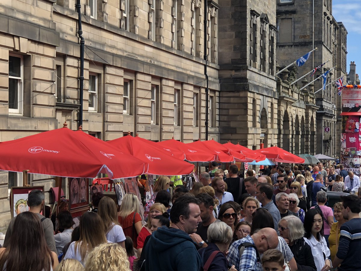 There is so much to see and do at the Virgin Money Street Events on the Royal Mile. Be sure to check out what's happening under the umbrella-ella-ella #MakeYourFringe <br>http://pic.twitter.com/uA2zBh8nnx