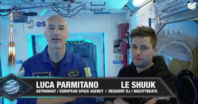 #BehindTheScenes with DJ @astro_luca: earlier this year Luca met German DJ @leShuuk and #BigCityBeats CEO Bernd Breiter for DJ training at @ESA_EAC in Cologne @esaspaceflight @ESA_de @ESA_Italia See esa.int/About_Us/Art_C…