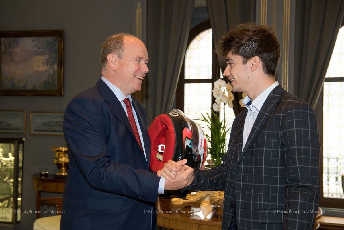 """What do you say to Prince Albert? @Charles_Leclerc  """"He has always known me: we met for the first time at the Christmas party: all the Monegasque children go to the palace and receive presents from the Prince.He saw me grow up and we have a beautiful relationship"""" #F1 #Charles16"""