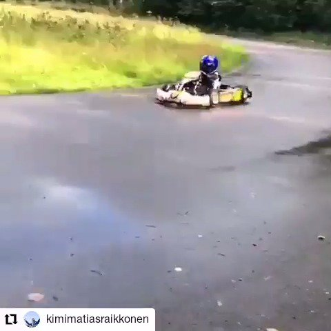 First laps on the board for Robin Raikkonen! ❤️  🎥 x Kimi's Instagram
