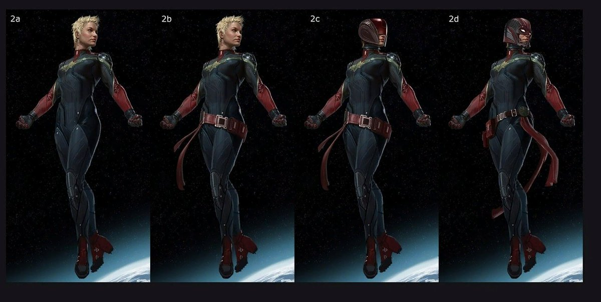 Mr Moment On Twitter Previously Concept Art Costume For The Film Captainmarvel The concept art that was released this week was created by comic book artist andy park. art costume for the film captainmarvel