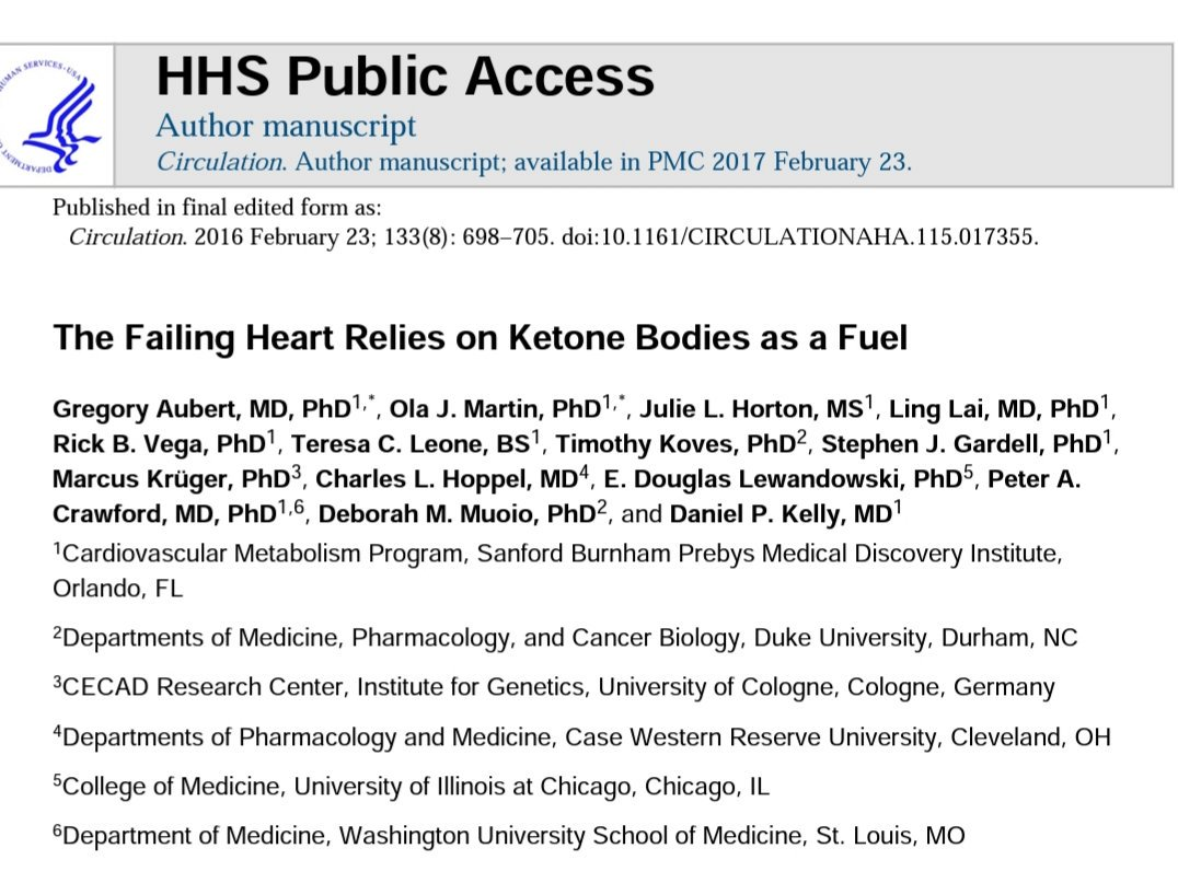 Wonderful article discussing how the heart relies on ketones when fatty acid oxidation is compromised in heart failure.  #keto #lchf #carnivore #hearthealth  @KetoCarnivore @DaveKeto @zoeharcombe @FatEmperor @KenDBerryMD @SBakerMD @JeffryGerberMD @eatmostlyfatali @FructoseNo<br>http://pic.twitter.com/1Li3cbFJe4