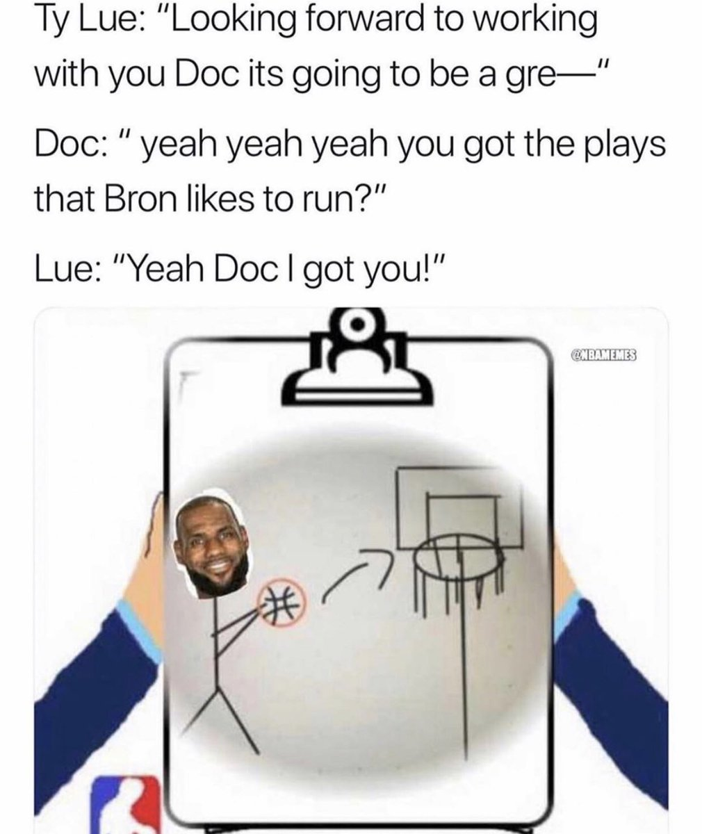 Doc welcoming Ty Lue to the coaching staff. 😂😂  (via @nbamemesinsta)