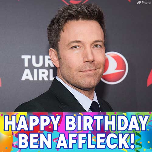 Happy Birthday, Batman! Ben Affleck is celebrating today.