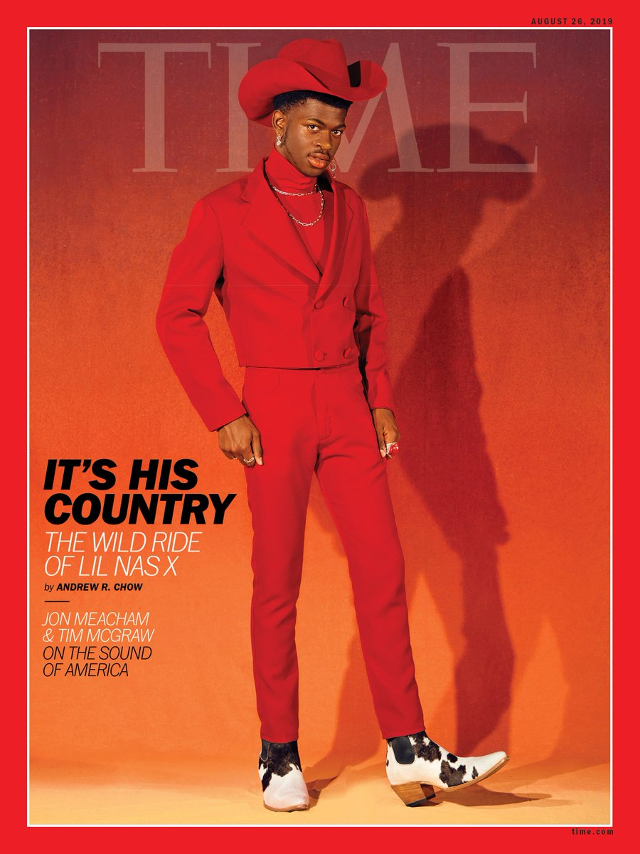 "TIME's new cover: ""It feels like I'm chosen to do this."" Inside the record-breaking rise of @LilNasX http://mag.time.com/EzPGpKr"
