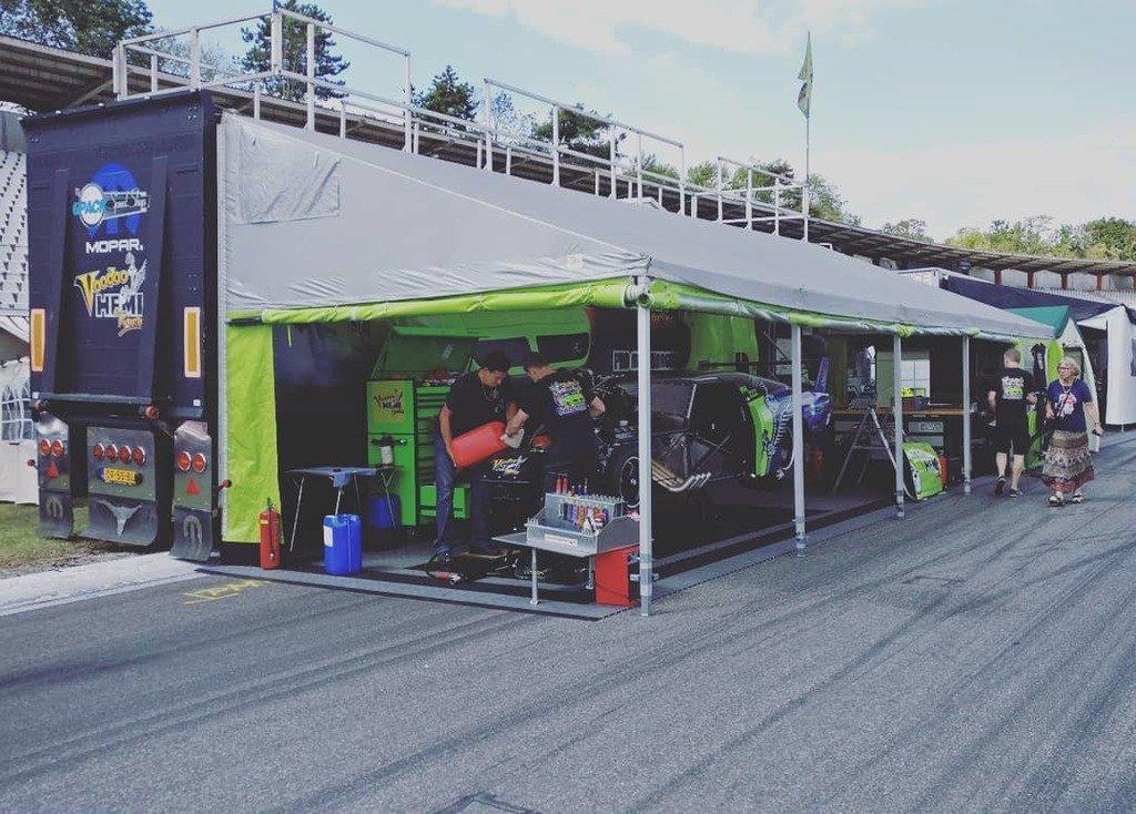 All settled and ready to race... #voodoohemi #voodoohemiracing #riseofthefenix #hockenheimring #hockenheim #nitrolympx #2019