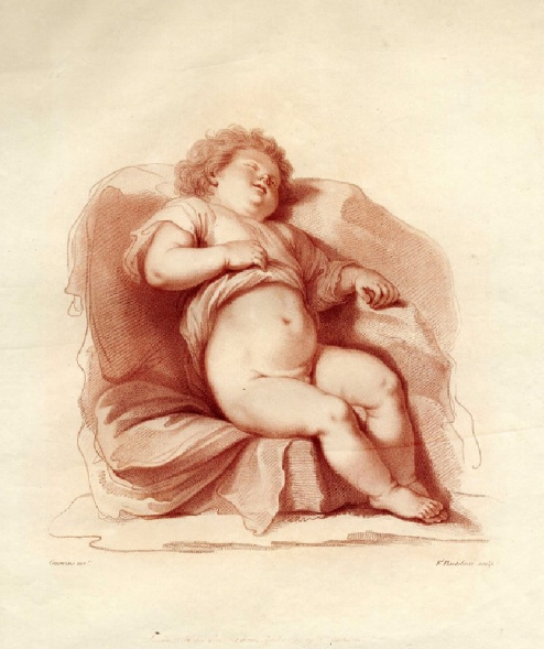 Happy #RelaxationDay! Wherever you are, we hope you are feeling as laid back as this little one 💤 This engraving called A Sleeping Child is by Francesco Bartolozzi (1727–1815) after designer Giovanni Francesco Barbieri, or Guercino (1591–1666)