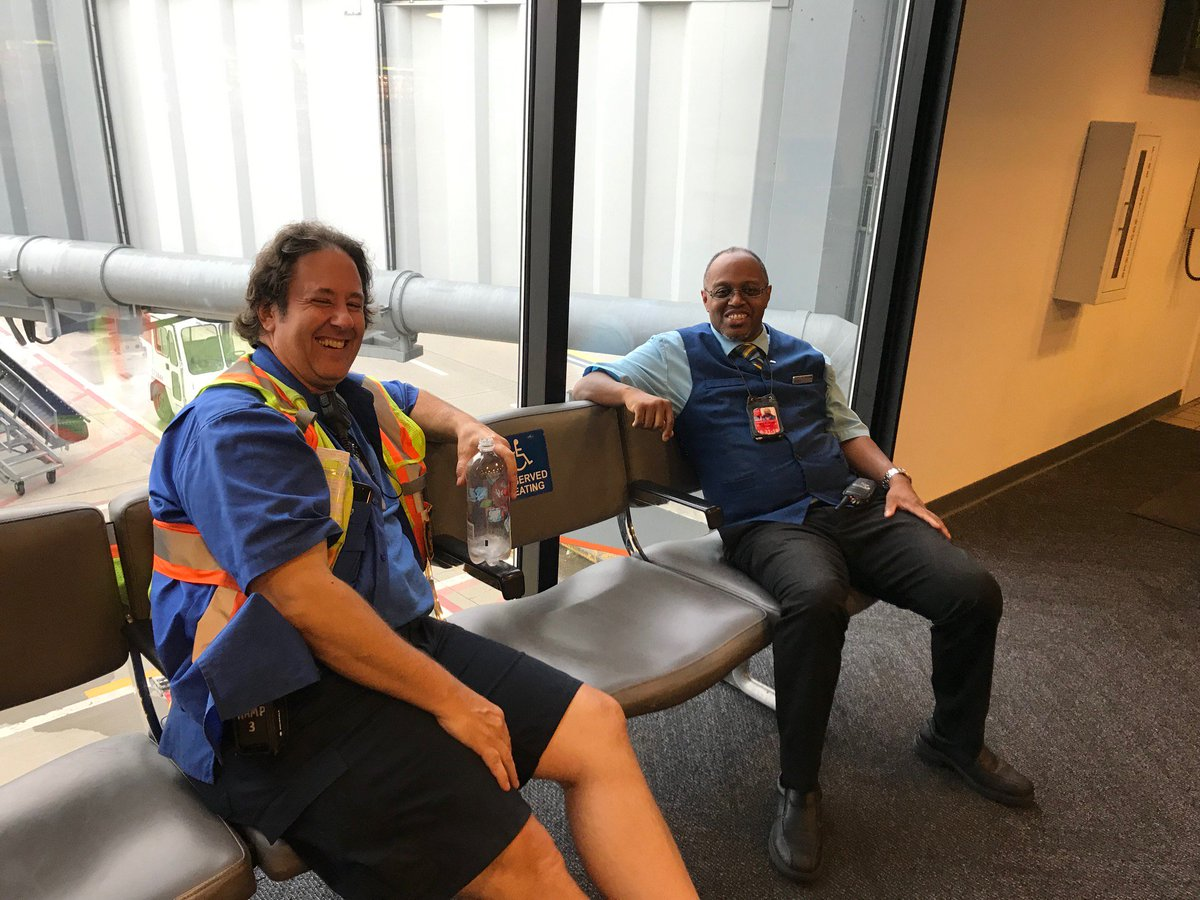 Another day at the office - Lead RSE Joe Voytus and Lead RSE Anthony Oxendine chilling after another day of on time Star Departures in Pittsburgh. True Teamwork of working together ATW and BTW is: teamwork making the dream work! @weareunited