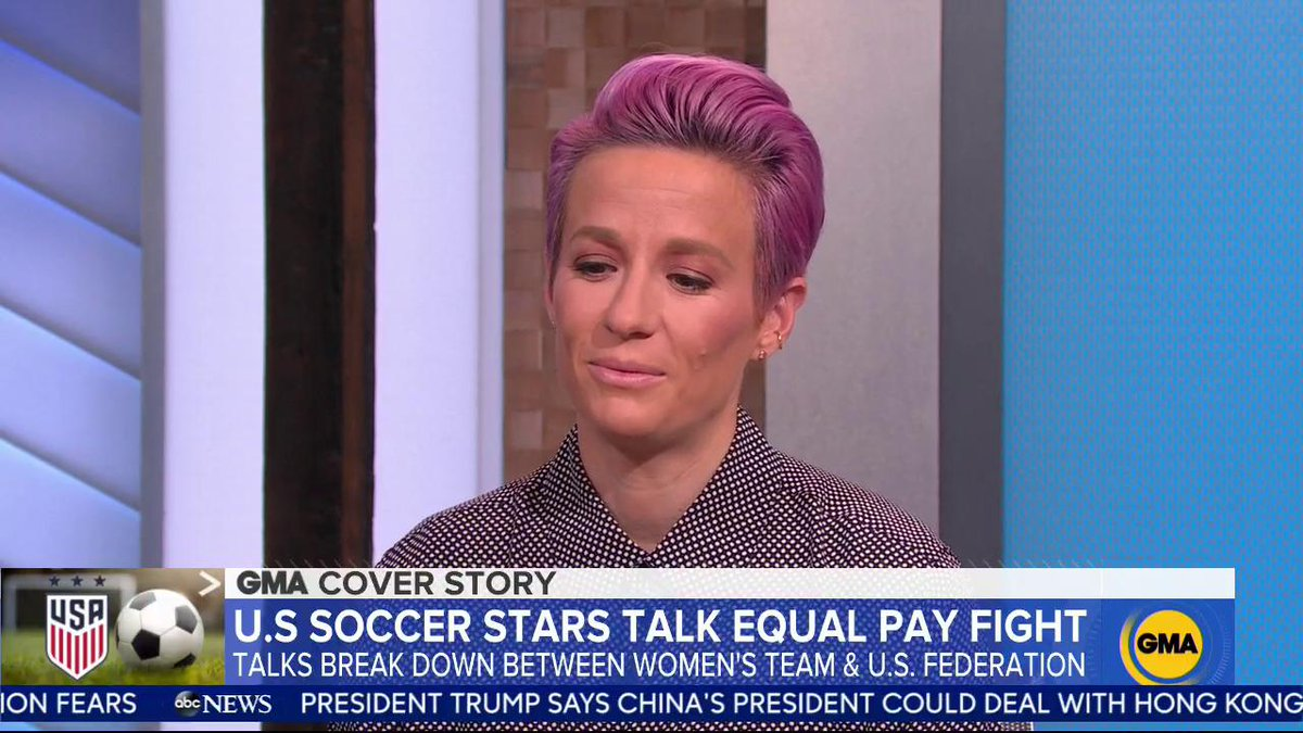 Negotiations break down between world cup champs #USWNT and the U.S. Soccer Federation over equal pay talks. @mpinoe and @ChristenPress speak out to @arobach. gma.abc/2N0PjgV
