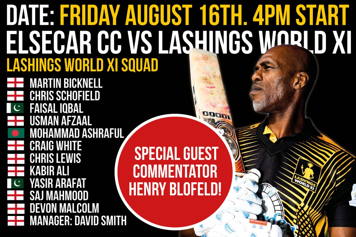 Never mind the #Ashes. Heres the team news for tomorrows trip to @ElsecarCC lashings-worldxi.co.uk/news