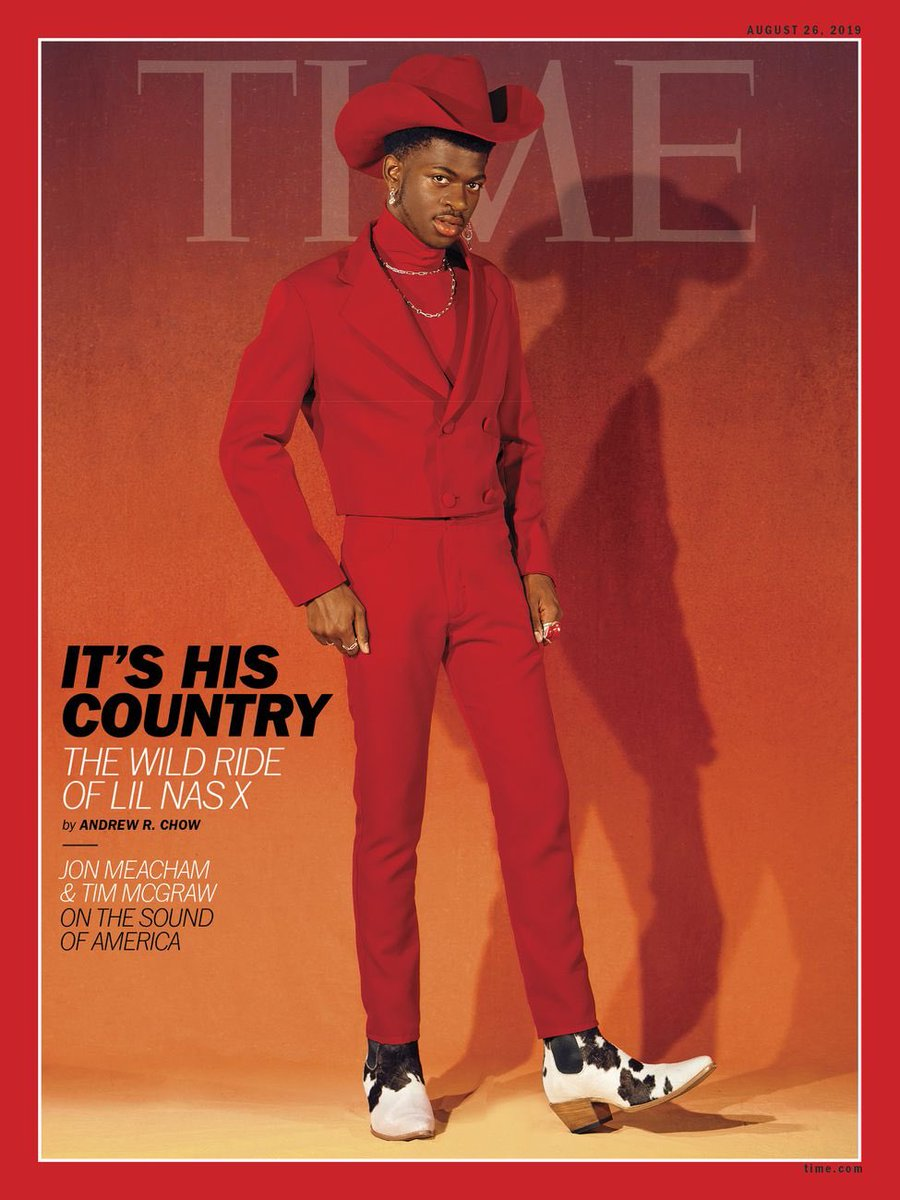 Can't wait to read the new edition of @TIME feat pieces on @LilNasX as well as @TheTimMcGraw + @jmeacham #SongsOfAmerica