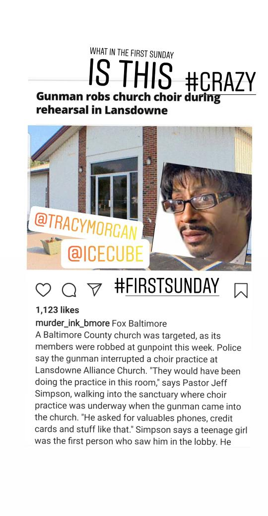 What in the #firstsunday is this?? You are a #target almost everywhere!! This is no #comedy this deserve a shovel @FOXBaltimore @wbaltv11 @RobLongSports @icecube @KattWilliams @TracyMorgan @RealDLHughley<br>http://pic.twitter.com/JFxzHPMZJR