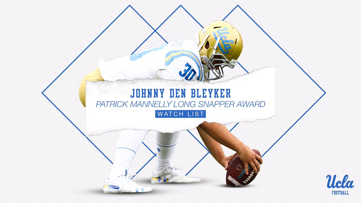 Congratulations to @jdenbleyker33 on being named to the @MannellyAward watch list!  🔗 https://ucla.in/33xP2rv   #GoBruins – at UCLA