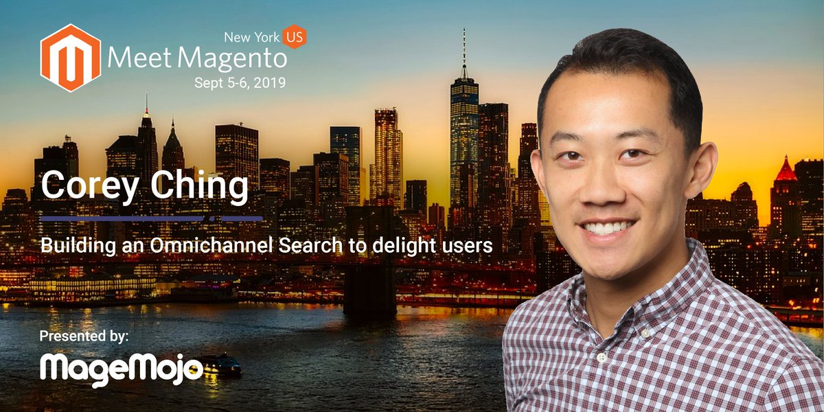 Corey Ching from @algolia is going to teach us all about Building an Omnichannel Search to Delight Users at @meetmagentonyc. Be sure to check it out! Grab your ticket! → bit.ly/33B8UKj #MM19NYC