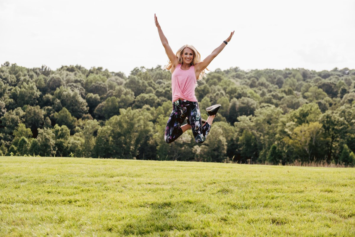 Jumping for joy at this Lush Floral @CALIAbyCarrie print! #StayThePath📸:@cameronpremo