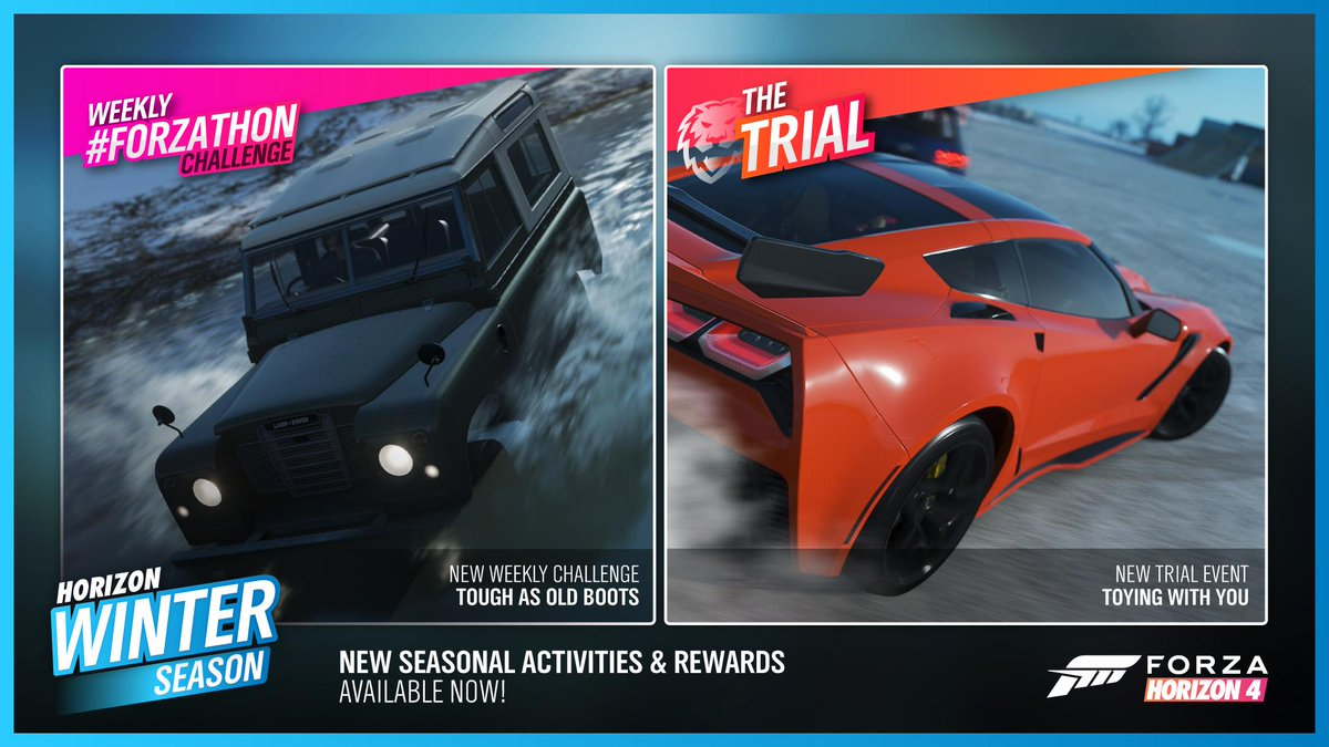 Winter #Forzathon Shop, Festival Playlist events and rewards