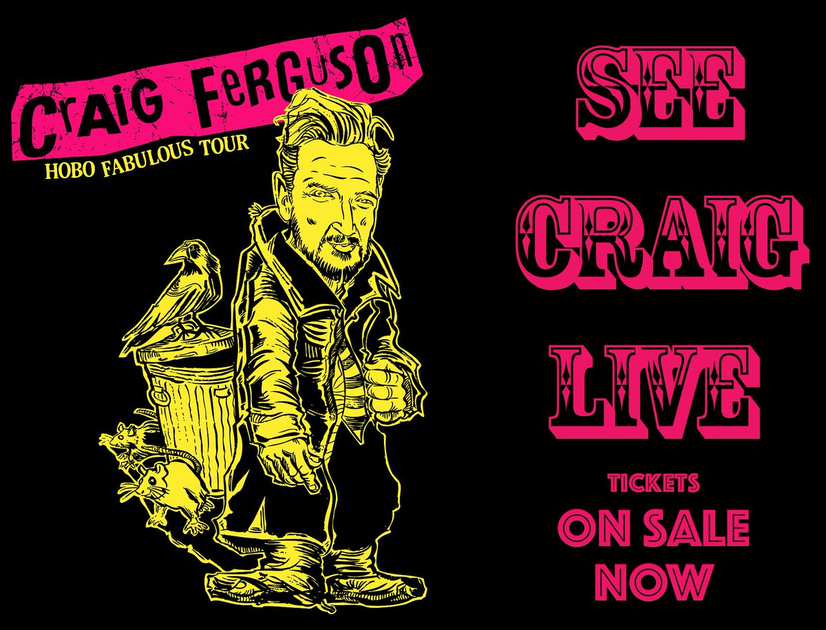 Tickets for Weinberg Center for the Arts in Frederick, MD on Oct 9th just went up on sale. See you guys there! weinbergcenter.org/shows/craig-fe… @SIRIUSXM @SiriusXMComedy #hobofabulous #thecraigfergusonshow @WeinbergCenter