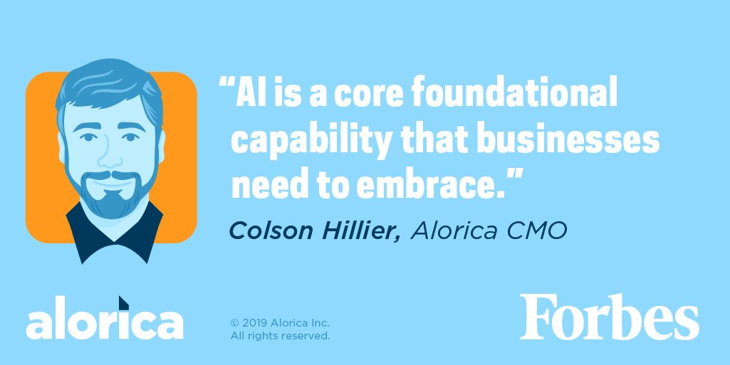 Artificial Intelligence (AI) is all the rage—but companies often struggle with where to begin. Read a recent Forbes article featuring our very own Colson Hillier, and uncover best practices when deploying AI. https://t.co/4kJEhxLjqx #alorica https://t.co/x9ioKIUw9C