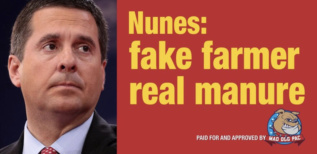 Image result for devin nunes fake farmer real manure