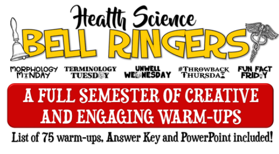 Themed Bell Ringers for your Health or Health Science course....for the entire semester. ampeduplearning.com/health-science…