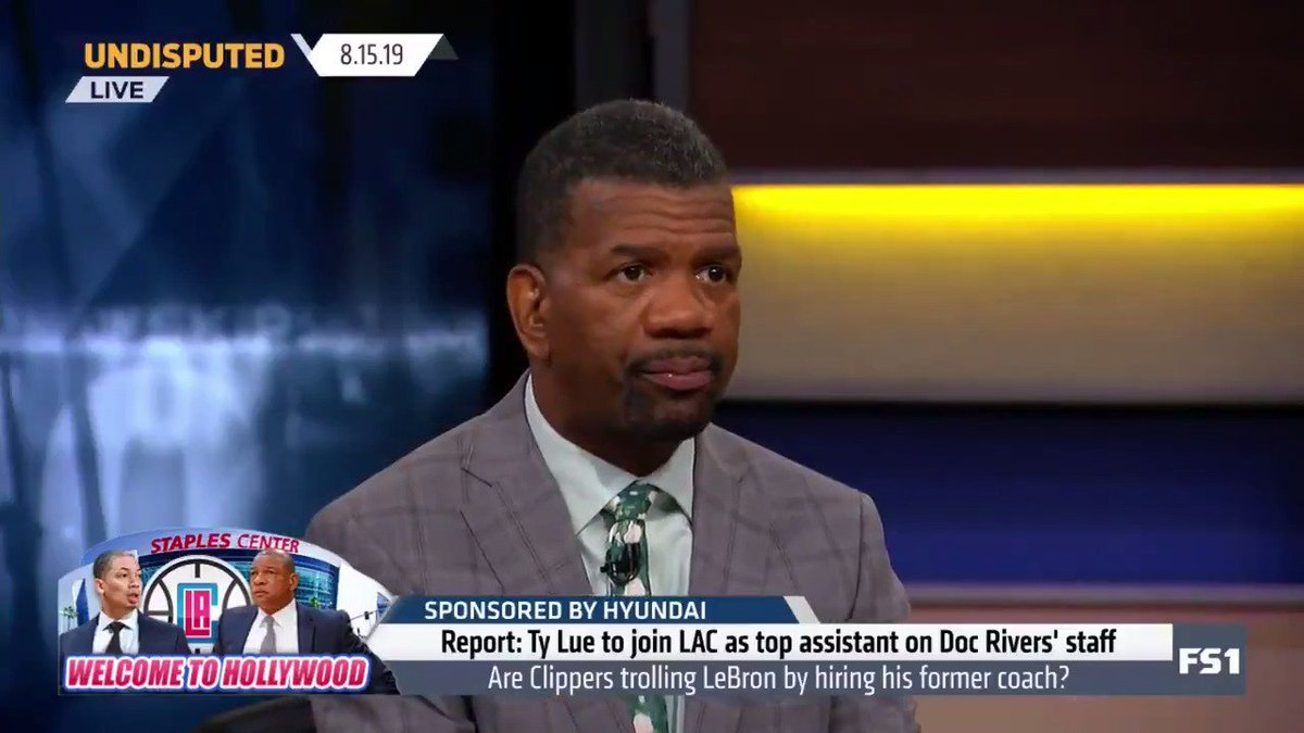 """The Lakers totally mishandled this. Ty Lue is a former Laker, had success with LeBron. They offered him a measly 3-year contract for a guy who's won a championship. ... I love what the Clippers have done. The Lakers will rue the day they passed over Ty Lue."" — @RobParkerFS1 pic.twitter.com/t7LA2SYXrM"