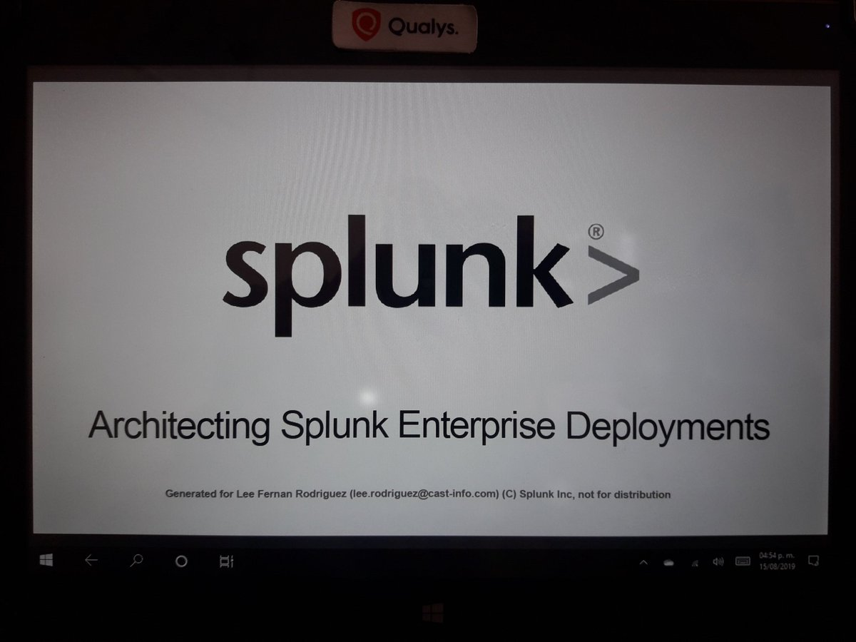 splunk… hashtag on Twitter