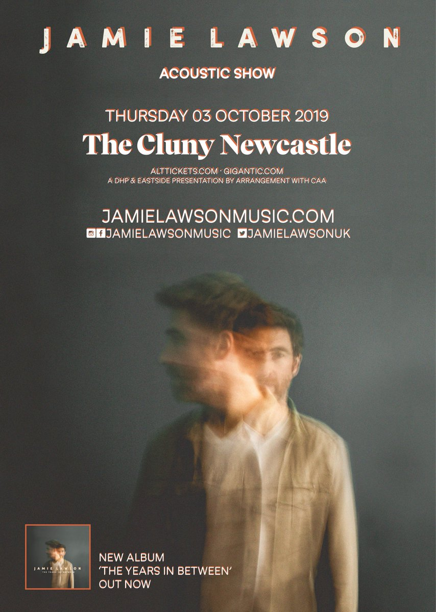 After losing my voice earlier this year and cancelling my show in Newcastle, I'm very happy to say Ill be back on 3rd October. Tickets are available now and I can't wait to see you all! Jx jamielawsonmusic.com/#tour