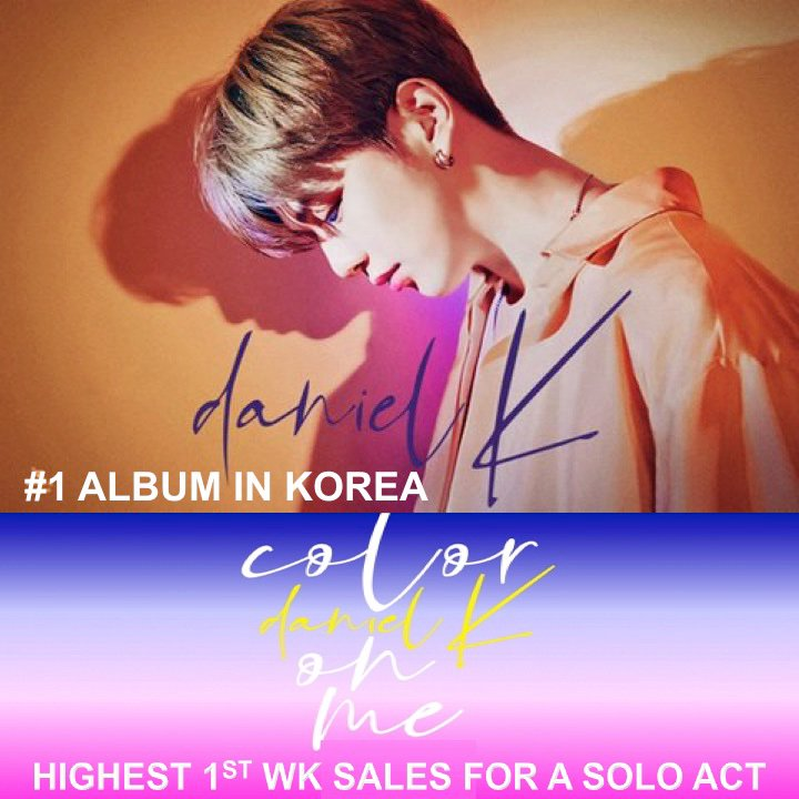 #KangDaniel Scores A 2nd Week Atop The Gaon Weekly Albums Chart With His Debut Solo Album #ColorOnMe After breaking The Record Last Week For Highest 1st Week Album Sales By A Solo Act In Korean History! @danielk_konnect   https://www. facebook.com/worldmusicawar ds/posts/2379658825448550   … <br>http://pic.twitter.com/AnnX4jMwGn