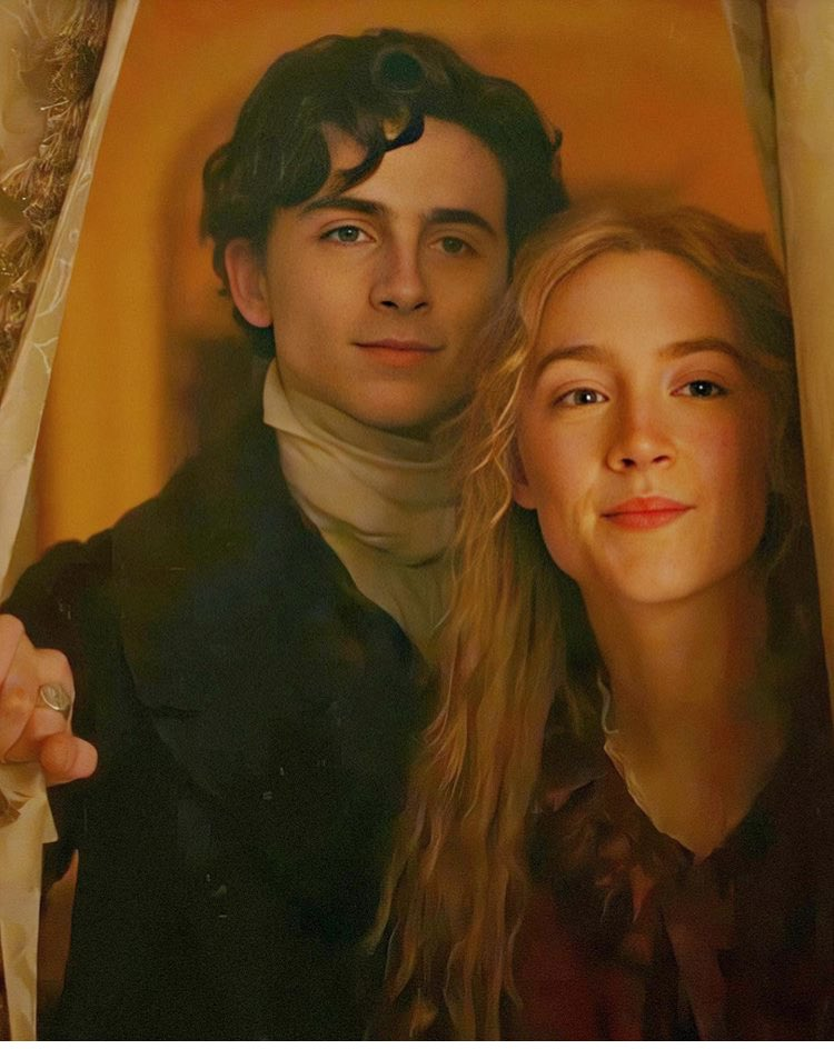 THEY are even more stunning in HQ...look at the details of their costumes, at their smiles and expressions !! They just blow me away 😍😭♥️  #TimothéeChalamet #SaoirseRonan #LittleWomen #JoandLaurie  pic: @TChalametCN 🙏🏻