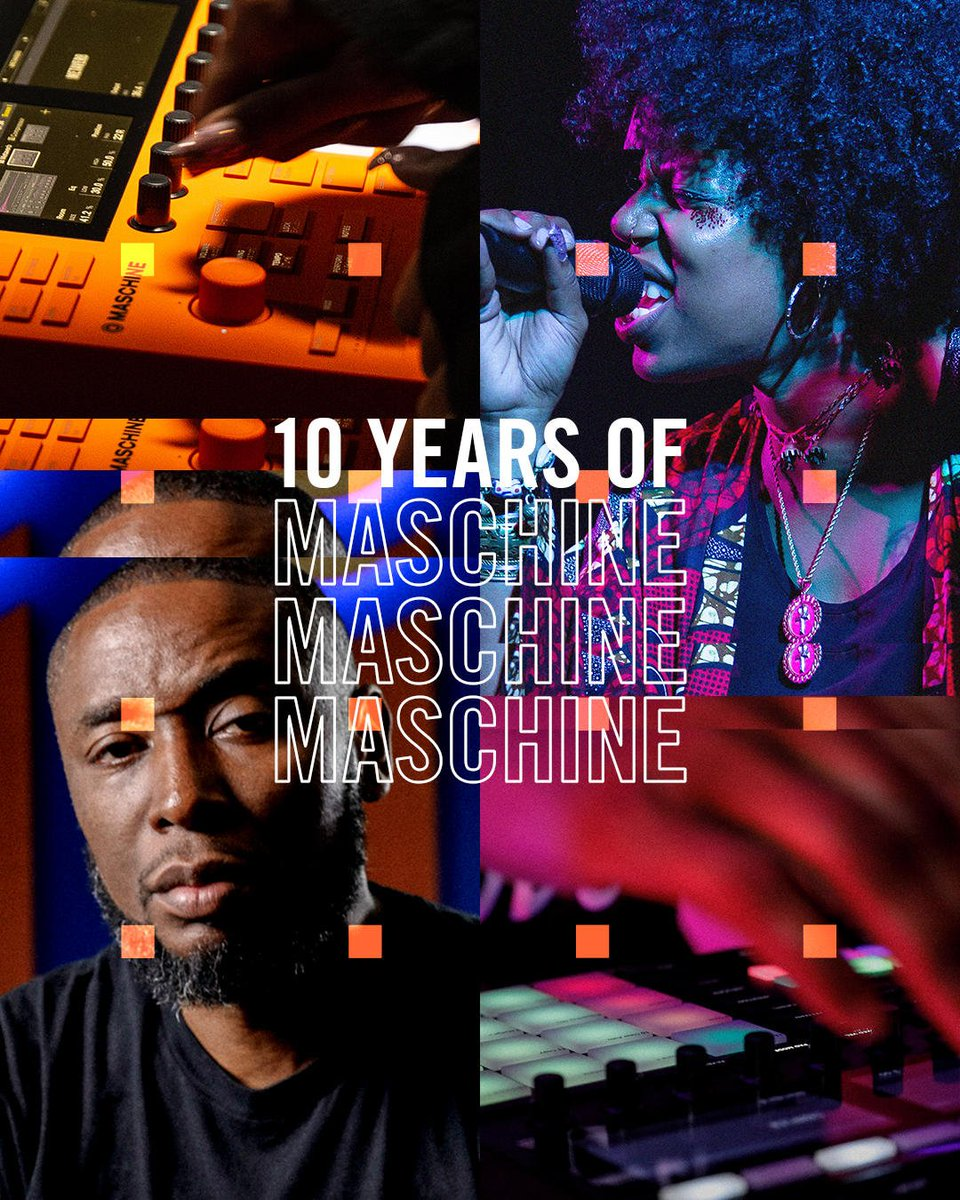A decade in the game and still fresher than ever  We're celebrating ten years of MASCHINE with exciting stuff over the next months. From artist stories and engineering tales, to hardware makeovers and birthday freebies. Join us:  http:// bit.ly/2OXV69t     #10YearsMaschine<br>http://pic.twitter.com/gXM1aLuKq1