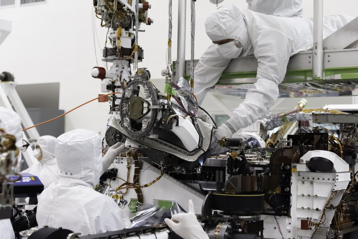 A bit closer to drilling on Mars #Mars2020's bit carousel, an integral part of the rover's toolkit for sampling and storing Martian rock, has been installed: go.nasa.gov/2N6zS70