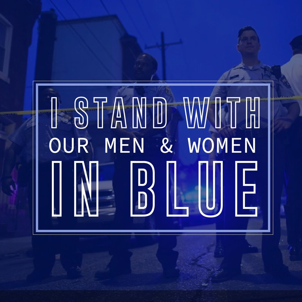 Praying for the brave law enforcement officers injured in Philadelphia. We must come together as a country united behind the men and women that keep us safe.