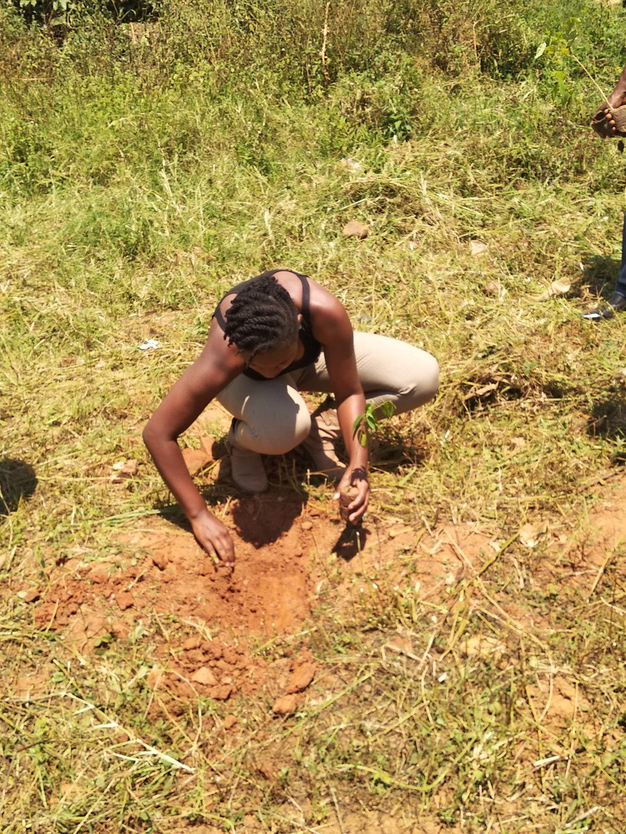 #LeahBirthdayTree planting has gone on very well, adding life to our environment. Am glad to have been part of the Activity and as a green practice, am happy to share with the world today. No one is too small. Happy 15th Birthday @NamugerwaLeah @GreenCampaignAf #GreenThursday