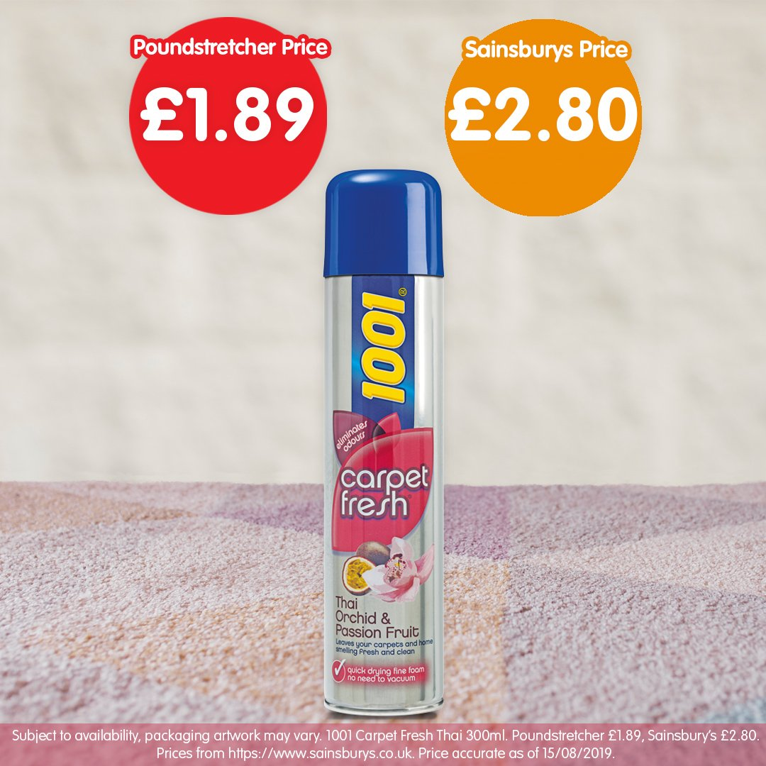 Poundstretcher On Twitter Eliminate Carpet Odours With Our 1001 Carpet Fresh Thai Orchid Leave Your Home Smelling Fresh And Clean For Only 1 89 Https T Co Vonoeprayc