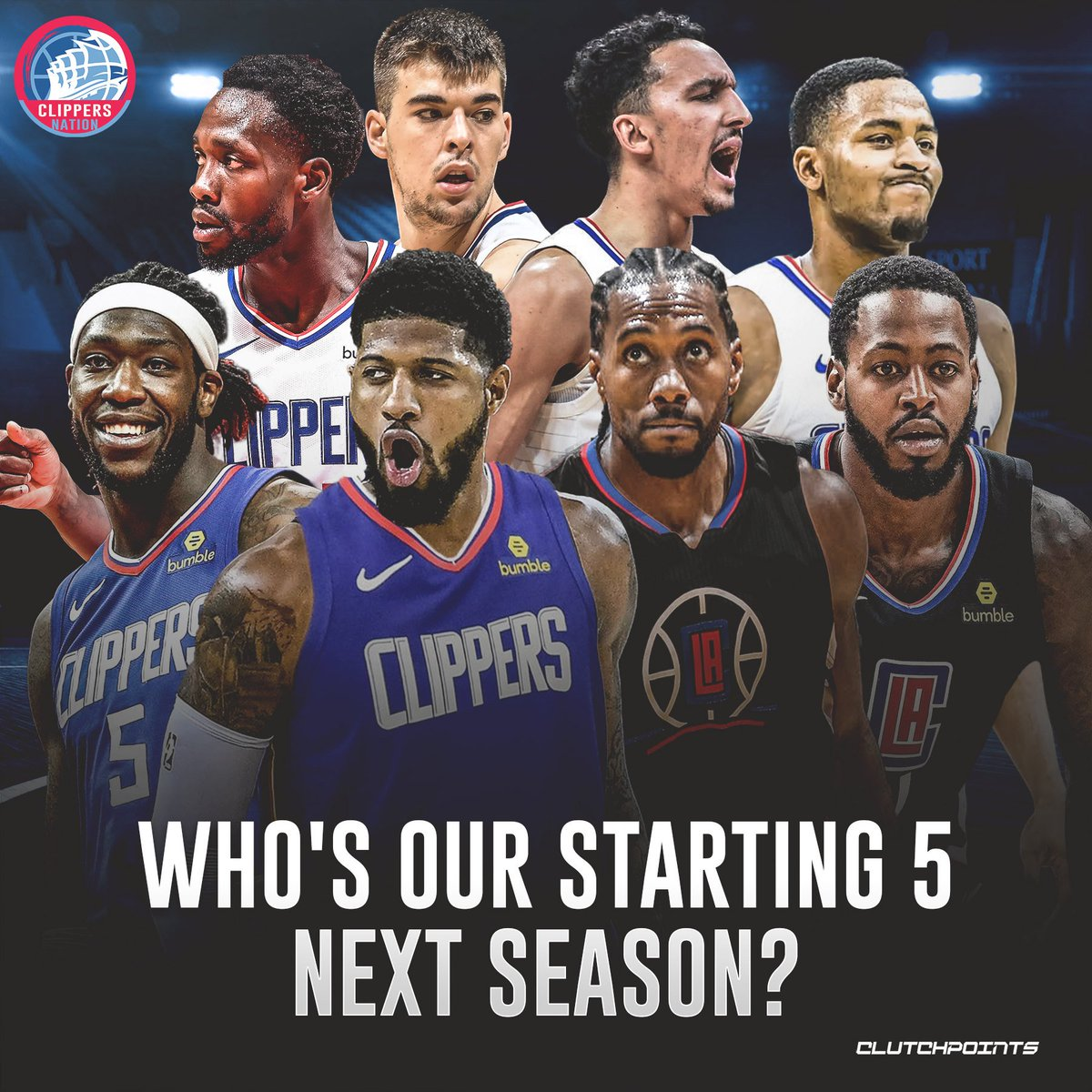 What lineup should the #Clippers put on the floor next to Kawhi Leonard and Paul George next season? #Clippernation