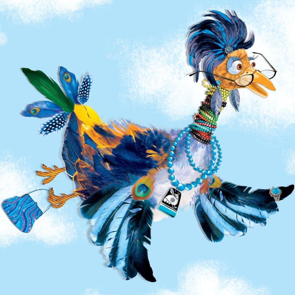 Нарисованные, открытка жар-птица на день рождения