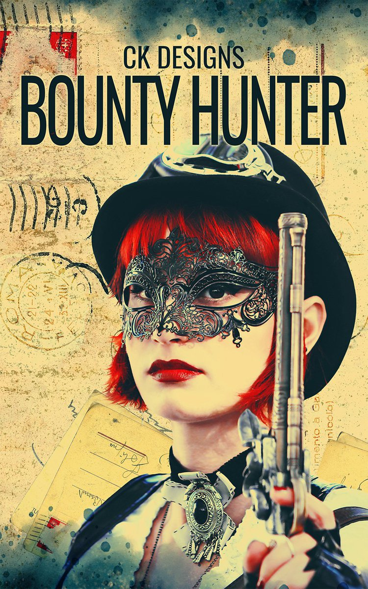 Brand new #steampunk cover: BOUNTY HUNTER, available at https://t.co/sZ2IipBXUL  You can find all my premade eBook covers, or order a custom one at https://t.co/SRK7XdDtsI   #books #bookcover #bookcommunity #coverdesign #coverart #indiebooks #writingcommunity