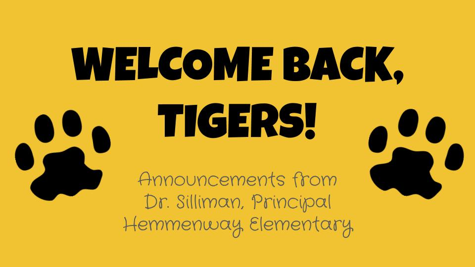 Parents, check out these updates by @PrinSilliman! bit.ly/WelcomeBackHES