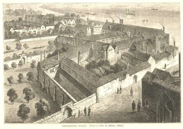 I like to think of all the palaces and grand houses of London that were once thriving, now just fragments. @17thCenturyLady  #ThrowbackThursday #London #Palaces #17thCentury  Winchester House, Southwark Wenceslaus Hollar, 1660 <br>http://pic.twitter.com/GGkKzpt44r