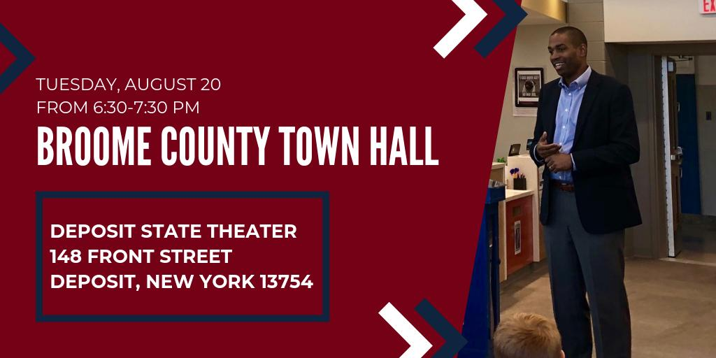 The first priority of my job is to listen and learn from those I serve in every corner of New York's 19th Congressional District. I'm looking forward to returning to Broome County for my 22nd town hall in #NY19. Hope to see you there! delgado.house.gov/media/press-re…