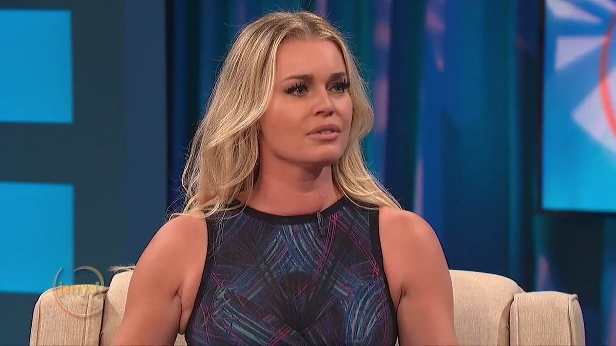 . @RebeccaRomijn takes over the Jerry O' Show, and starts asking Jerry the questions! Watch their hilarious interview at http://www.JerryOShow.com.