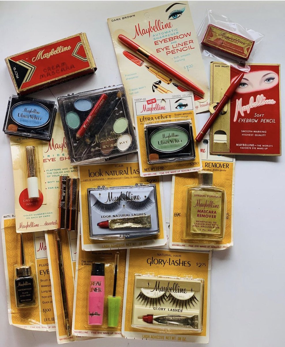 #TBT Vintage maybelline from the 1920s-1970s.     #repost from MUA Erin Parsons<br>http://pic.twitter.com/0pyBcitzyT