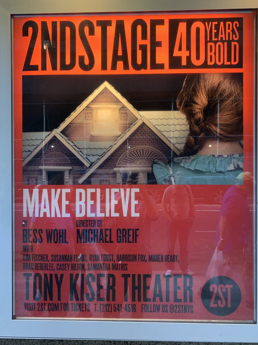 """Tonight: """"Make Believe,"""" by @BessWohl, at @2STNYC"""