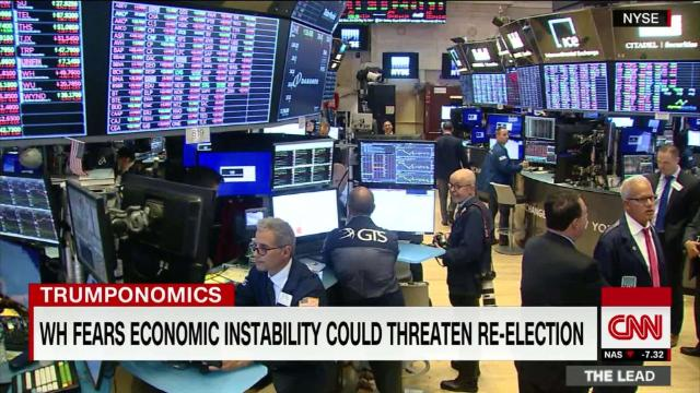 WH fears economic instability could hurt Trump re-election @kaitlancollins reports cnn.it/303KpU4