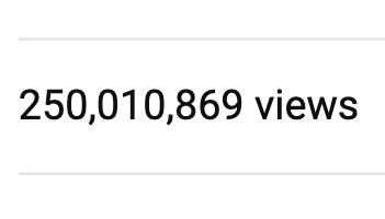 🌎🌎🌎🌎🌎 @MinuteEarth just passed 250 million views! An arbitrary milestone, for sure, but it's encouraging that people have used our videos to learn about science & sustainability MORE THAN A QUARTER BILLION TIMES. Go team! 🌎🌎🌎🌎🌎