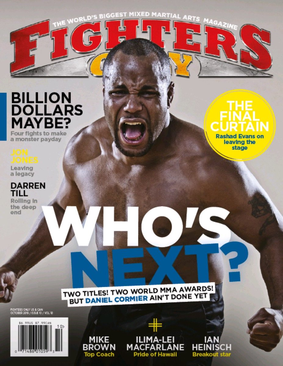 Excited  for this hitting newsstands in a couple weeks! @reidrattlecage @FightersOnly